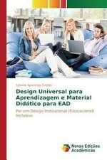 Design Universal Para Aprendizagem E Material Didatico Para Ead:  Estudos No Brasil