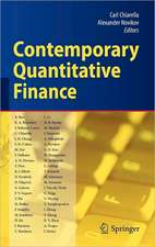 Contemporary Quantitative Finance: Essays in Honour of Eckhard Platen