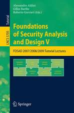 Foundations of Security Analysis and Design V: FOSAD 2008/2009 Tutorial Lectures