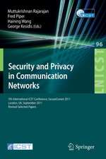 Security and Privacy in Communication Networks: 7th International ICST Conference, SecureComm 2011, London, September 7-9, 2011, Revised Selected Papers