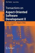 Transactions on Aspect-Oriented Software Development X