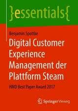 Digital Customer Experience Management der Plattform Steam: HMD Best Paper Award 2017