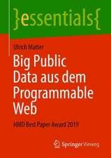 Big Public Data aus dem Programmable Web: HMD Best Paper Award 2019
