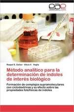 Metodo Analitico Para La Determinacion de Indoles de Interes Biologico:  Una Negociacion Poco Ortodoxa