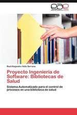 Proyecto Ingenieria de Software:  Bibliotecas de Salud