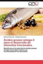 Acidos Grasos Omega-3 Para El Desarrollo de Alimentos Funcionales.