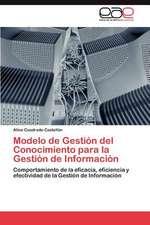 Modelo de Gestion del Conocimiento Para La Gestion de Informacion