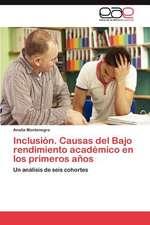 Inclusion. Causas del Bajo Rendimiento Academico En Los Primeros Anos