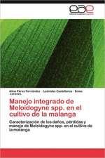 Manejo Integrado de Meloidogyne Spp. En El Cultivo de La Malanga:  Pfizer Venezuela, S.a