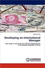 Developing an International Manager