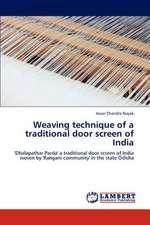 Weaving technique of a traditional door screen of India
