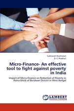 Micro-Finance- An effective tool to fight against poverty in India