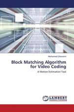 Block Matching Algorithm for Video Coding
