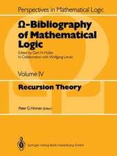 Ω-Bibliography of Mathematical Logic: Recursion Theory