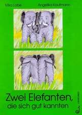 Zwei Elefanten, die sich gut kannten