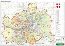 Wien politisch Planokarte 1 : 85.000