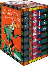 Die schönsten Kinderbuchklassiker: Peter Pan - Peterchens Mondfahrt - Alice im Wunderland  - Der Zauberer von OZ - Pinocchio (5 Bände in Kassette)