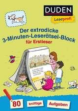 Duden Leseprofi - Der extradicke 3-Minuten-Leserätsel-Block für Erstleser