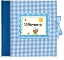 Willkommen! Babyalbum blau
