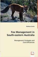 Fox Management in South-eastern Australia