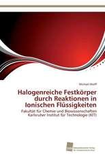 Halogenreiche Festkorper Durch Reaktionen in Ionischen Flussigkeiten:  Trimerbildung & Funktion