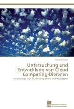 Untersuchung Und Entwicklung Von Cloud Computing-Diensten:  Trimerbildung & Funktion