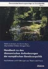 Handbuch zu den ökonomischen Anforderungen der europäischen Gewässerpolitik