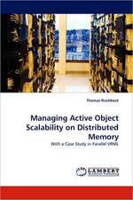 Managing Active Object Scalability on Distributed Memory