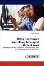 Using Hyperlinked Scaffolding to Support Student Work