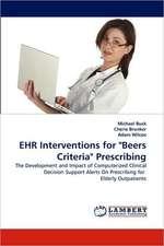 "EHR Interventions for ""Beers Criteria"" Prescribing"