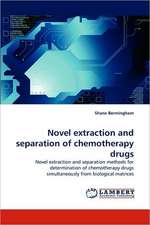 Novel extraction and separation of chemotherapy drugs