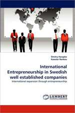 International Entrepreneurship in Swedish well established companies