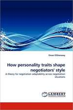 How personality traits shape negotiators' style