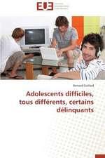 Adolescents Difficiles, Tous Differents, Certains Delinquants:  Quelles Ressources Pour Une Classe D'Accueil ?