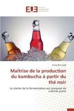 Maitrise de La Production Du Kombucha a Partir Du the Noir:  Codage Et Simulation