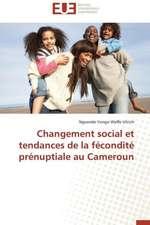Changement Social Et Tendances de La Fecondite Prenuptiale Au Cameroun:  Le Cas Des Ngemba