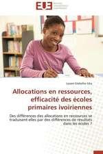 Allocations En Ressources, Efficacite Des Ecoles Primaires Ivoiriennes:  Cristaux Liquides
