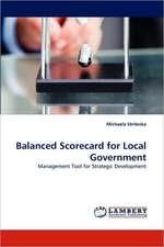 Balanced Scorecard for Local Government
