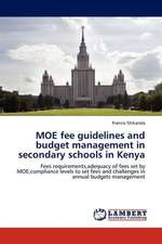 MOE fee guidelines and budget management in secondary schools in Kenya