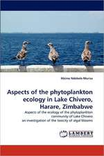 Aspects of the phytoplankton ecology in Lake Chivero, Harare, Zimbabwe