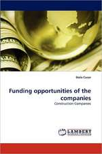 Funding opportunities of the companies