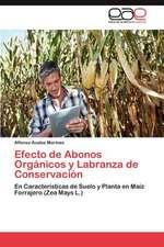 Efecto de Abonos Organicos y Labranza de Conservacion