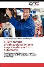 TPM y Cambio Organizacional En Una Empresa del Sector Automotriz:  H