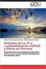 Hidrolisis de La, PR y Lu, Solubilidad de Ln(oh)3 y Efecto de Cloruros:  Efectos Sobre La Respuesta de Succion