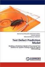 Test Defect Prediction Model