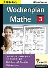 Wochenplan Mathe 3. Schuljahr