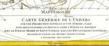 Historische WELTKARTE 1782 mit Entdeckungsfahrten von James Cook - Matthäus Lotter (Plano)