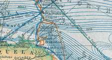 Historische WELTKARTE 1867 - CHART OF THE WORLD ON MERCATORS PROJECTION (Plano-2 Seiten)
