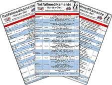 Notfallmedikamente Karten-Set - Medizinische Taschen-Karte