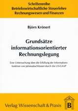 Grundsätze informationsorientierter Rechnungslegung